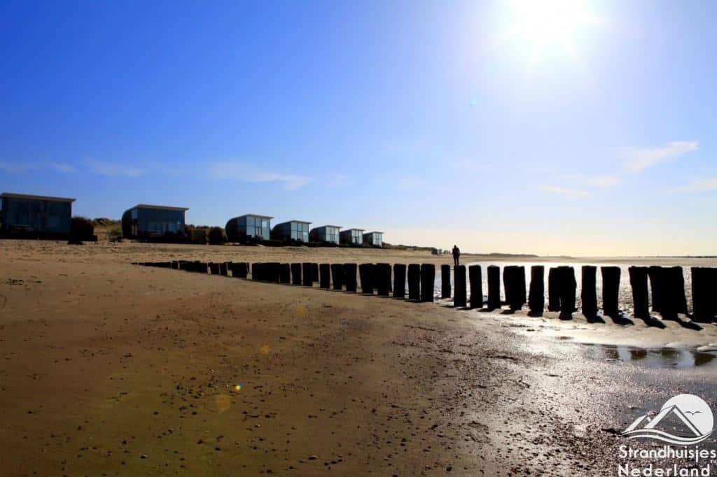Prachtig strand bij Groede strandhuisjes