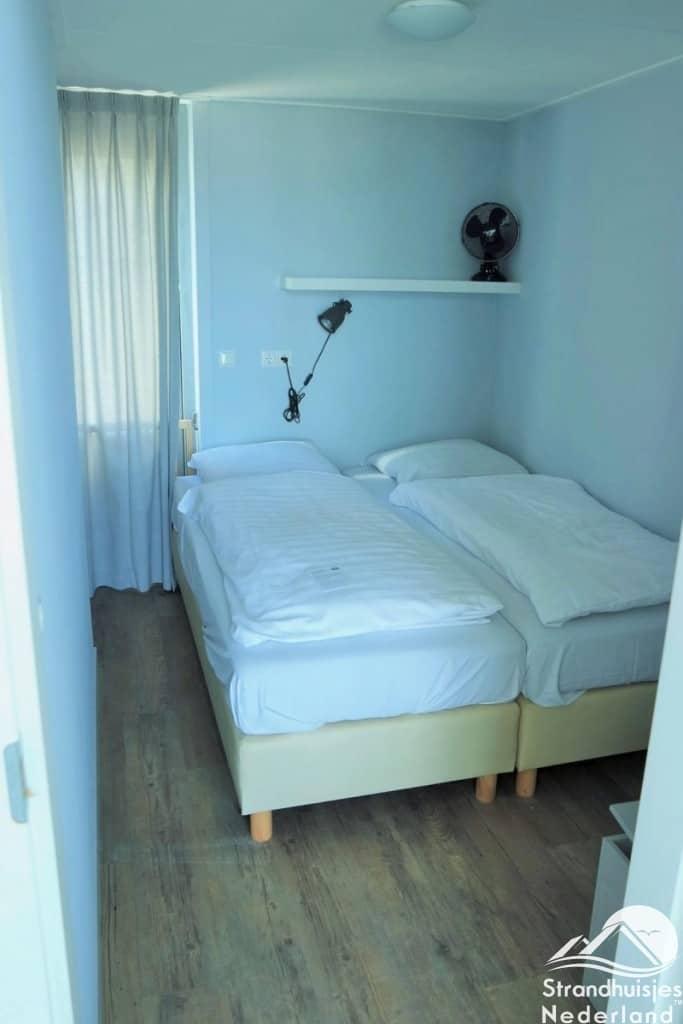 Slaapkamer strandhuisje Julianadorp