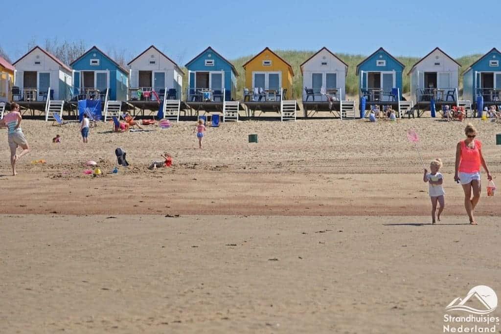 Strandhuisjes strand Vlissingen