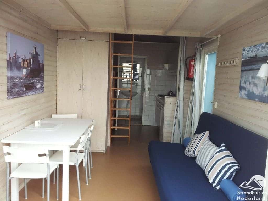 Interieur strandhuisje Vlissingen