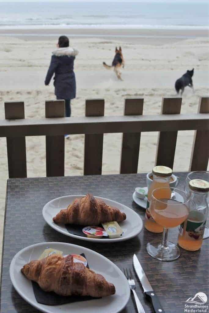 Uitzicht strandhuisje Wijk aan Zee