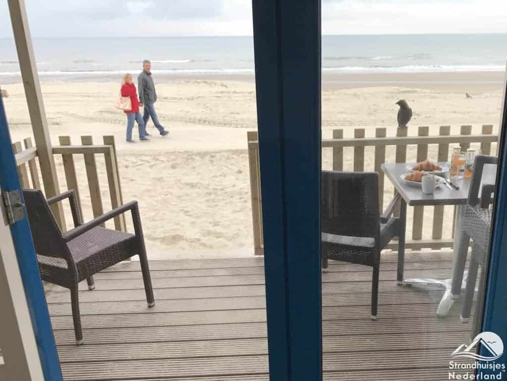 Uitzicht ontbijt strand Aan Zee Slapen