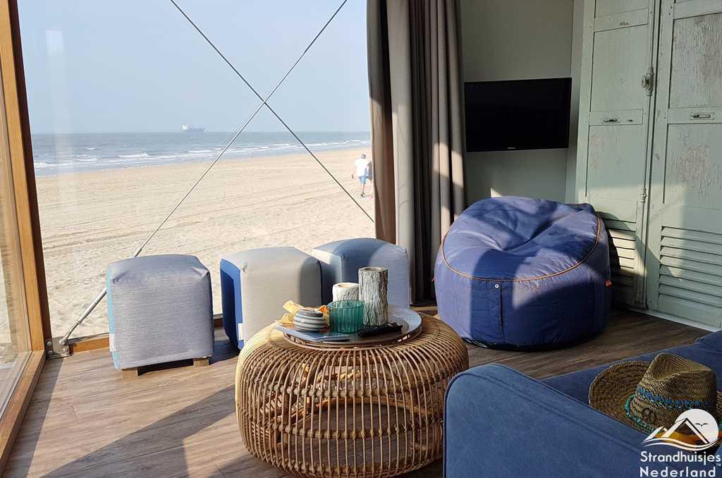 Interieur strandhuisjes Nieuwvliet