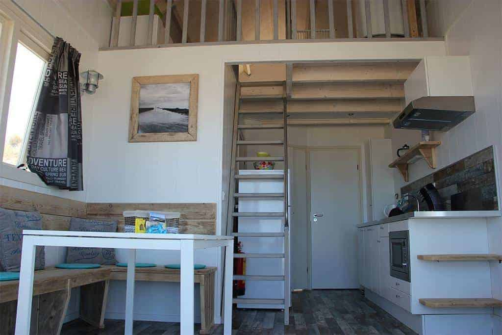Interieur strandhuisje Stranddroom Zeeland 2