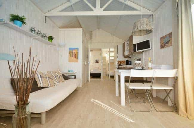 Interieur strandhuisje Willy Zuid