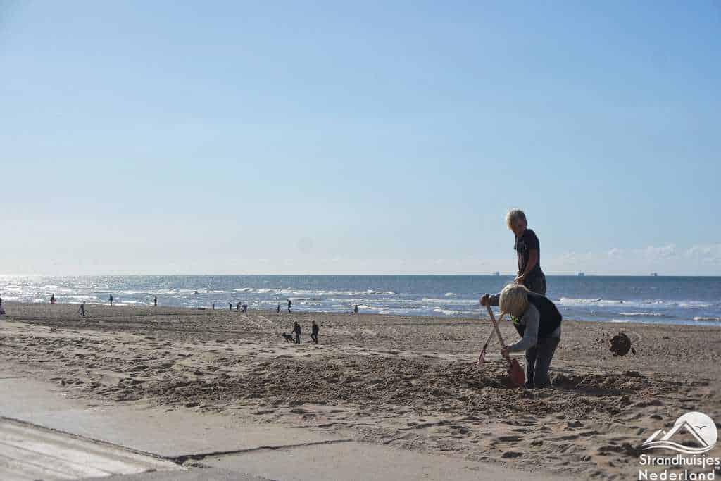 Zand scheppen strand Katwijk