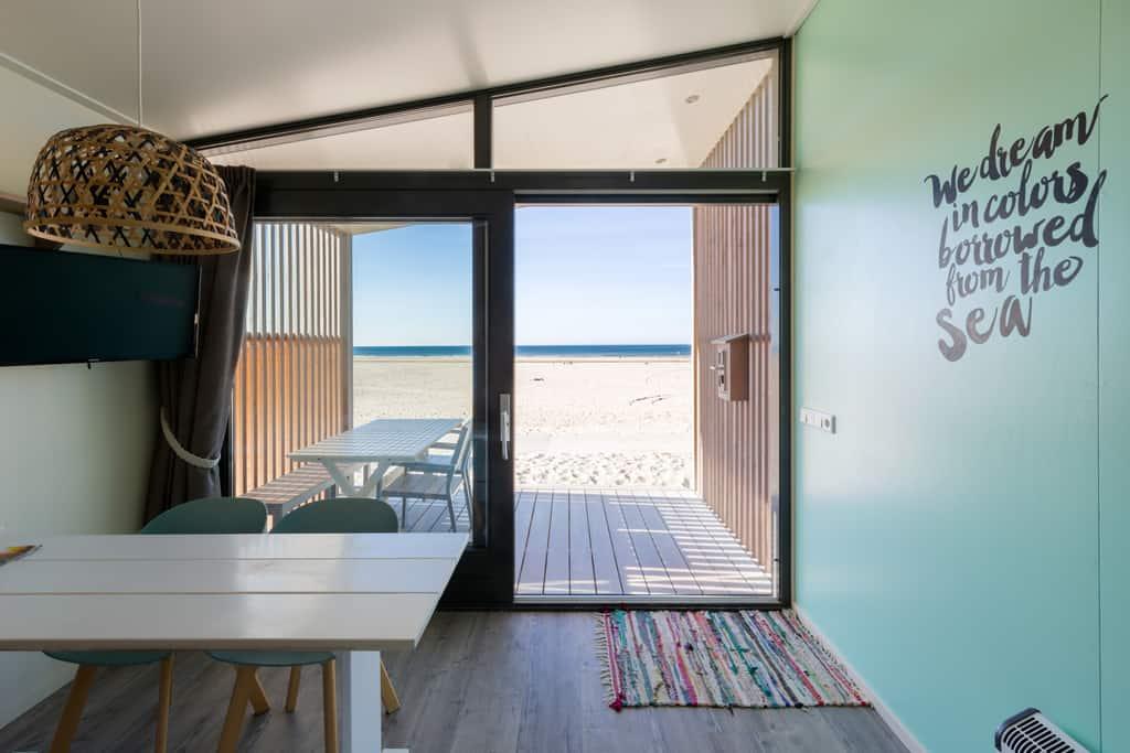 Strandhuisje Kijkduin - zicht op strand en Noordzee